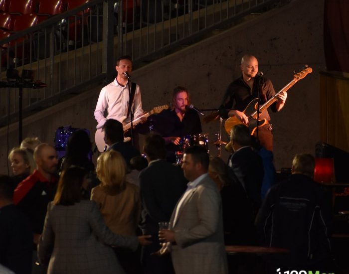 A September Social: JW-Jones' band and event attendees.